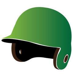 isolated baseball helm vector image