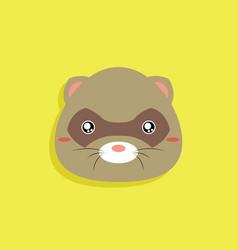 cartoon opossum face vector image