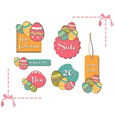 Easter eggs sales set background vector