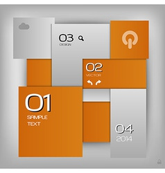 Business squares template orange with text vector
