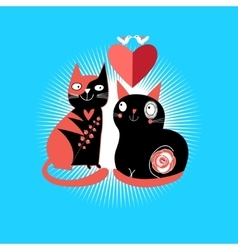 Cats lovers vector