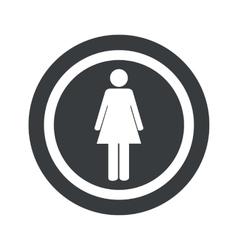 Round black woman sign vector