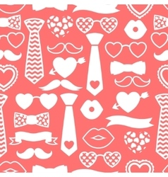Happy valentines day seamless pattern Hipster vector image