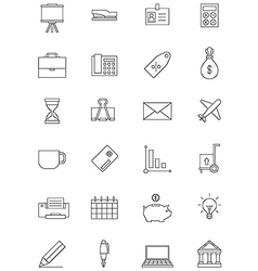 Black economy icons set vector