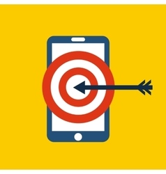 Smartphone and target icon media design vector