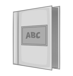 Abc book icon gray monochrome style vector