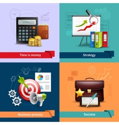 Business Realistic Set vector image