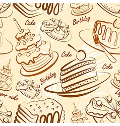 Cake seamless2 vector image vector image