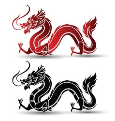 Chinese dragon 2 vector image vector image