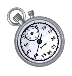 Classic grey chronometer on a white background vector image vector image