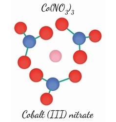 Cobalt III nitrate CoN3O9 molecule vector image vector image