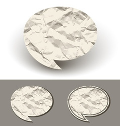 crumpled paper speech bubble vector image vector image