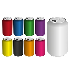 Drink Cans vector image
