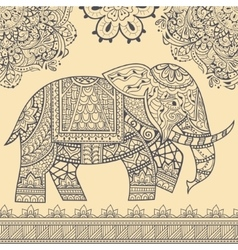 Ethnic elephant seamless pattern vector