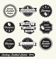 Fantasy football labels vector