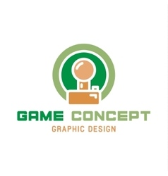 Game joystick of the trend in flat vector image vector image