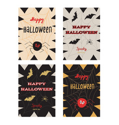 happy halloween poster greeting card vector image vector image