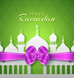 Happy Ramadan Islamic Greeting Background vector image
