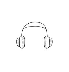 Headphone sketch icon vector image