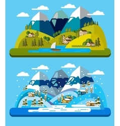 landscape and environment vector image vector image