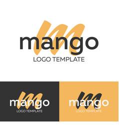 mango logo letter m logo logo template vector image vector image