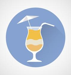 Pina colada cocktail simple icon vector