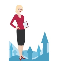 PR specialist on a white background vector image