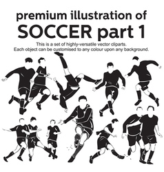 Premium Soccer Part 1 vector image