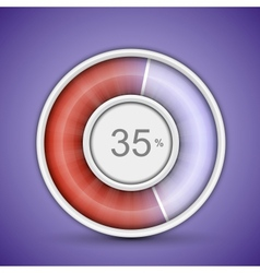 Radial progress bar vector