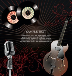 retro 45 rpm music background vector image vector image
