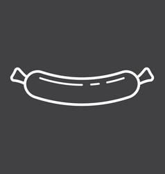 sausage line icon food and drink frankfurter vector image
