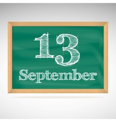 September 12 day calendar school board date vector