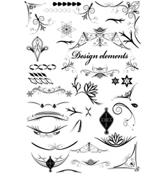 Set of vintage decorative elements vector image vector image
