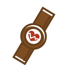 smart watch with cardiometer vector image