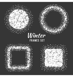 Snow winter frames set vector image vector image