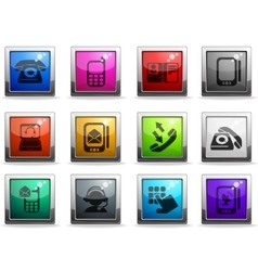 Telephone icons icons vector
