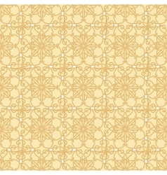 Yellow-beige floral seamless pattern vector