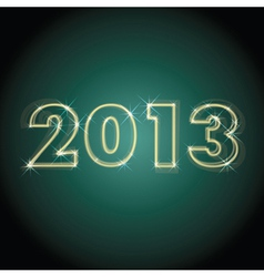 2013 year vector image