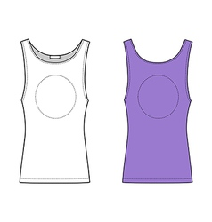 Outline lilac vest isolated on white front view vector
