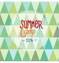 Summer camp for kids background with trees and vector