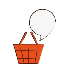 Shopping basket icon image vector