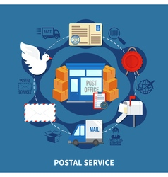 Post Service Round Design vector image