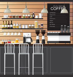 coffee shop design loft vector image