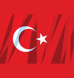 turkey flag vector image
