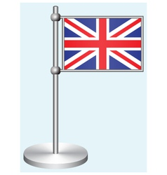 Great britain flag with metal stand vector
