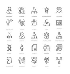 Project management line icons 1 vector