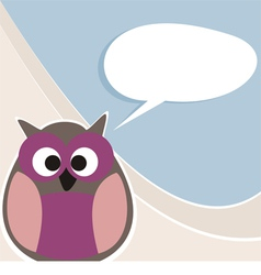 Funny owl talking teaching giving instructions vector