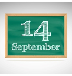 September 14 day calendar school board date vector