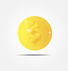 Coin with sparkle vector