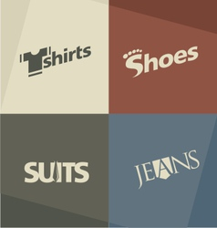 Fashion logo design concepts vector